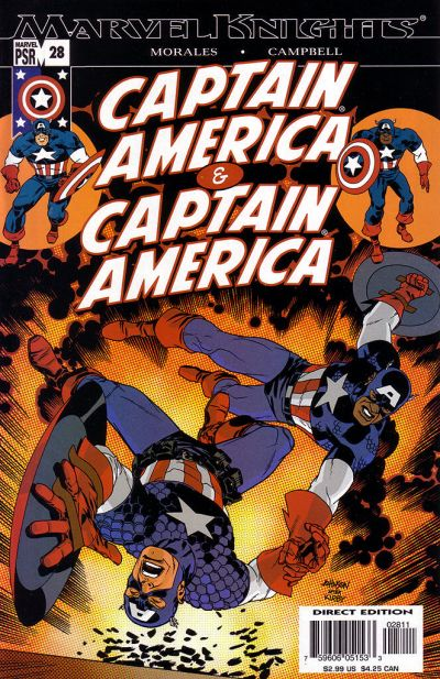 Cover for Captain America (Marvel, 2002 series) #28 [Direct Edition]