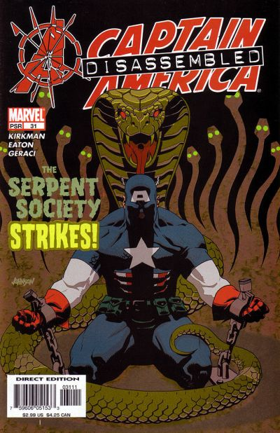 Cover for Captain America (Marvel, 2002 series) #31 [Direct Edition]