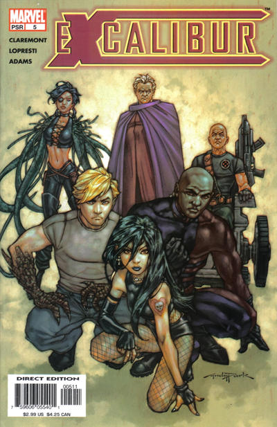Cover for Excalibur (Marvel, 2004 series) #5 [Direct Edition]