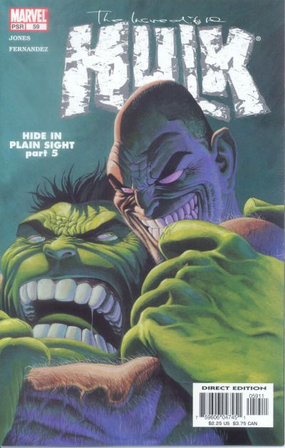 Cover for Incredible Hulk (Marvel, 2000 series) #59