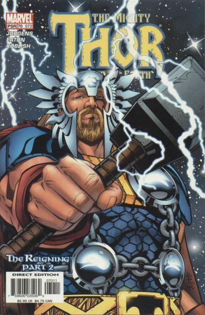 Cover for Thor (Marvel, 1998 series) #70 (572)