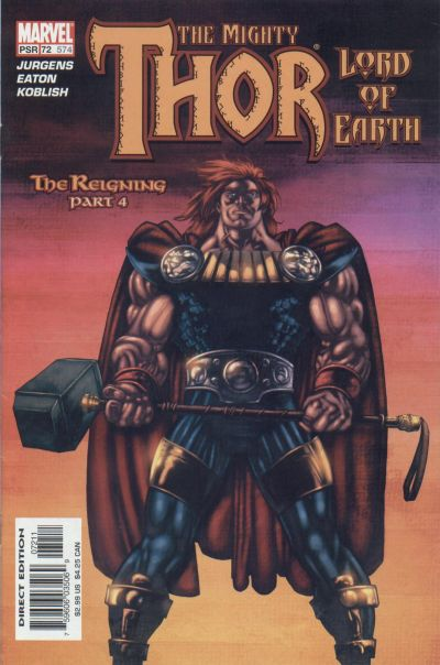 Cover for Thor (Marvel, 1998 series) #72 (574)