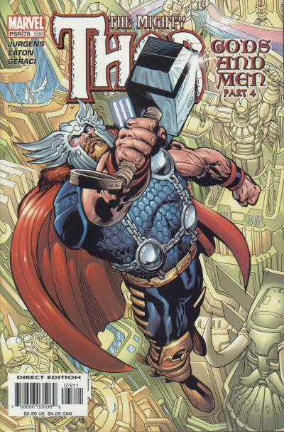Cover for Thor (Marvel, 1998 series) #78 (580)