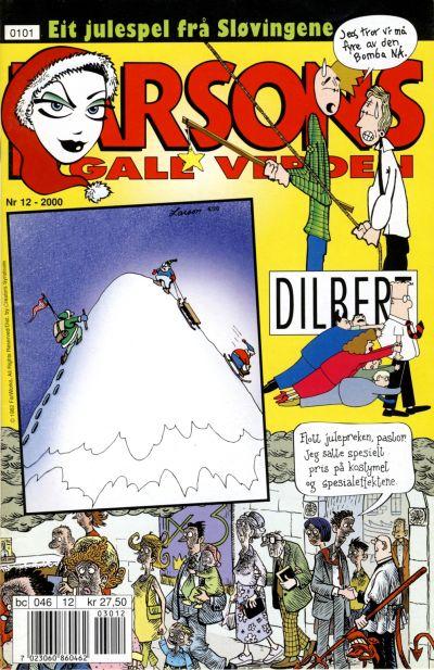 Cover for Larsons gale verden (Bladkompaniet, 1992 series) #12/2000