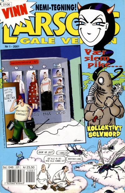 Cover for Larsons gale verden (Bladkompaniet / Schibsted, 1992 series) #1/2001