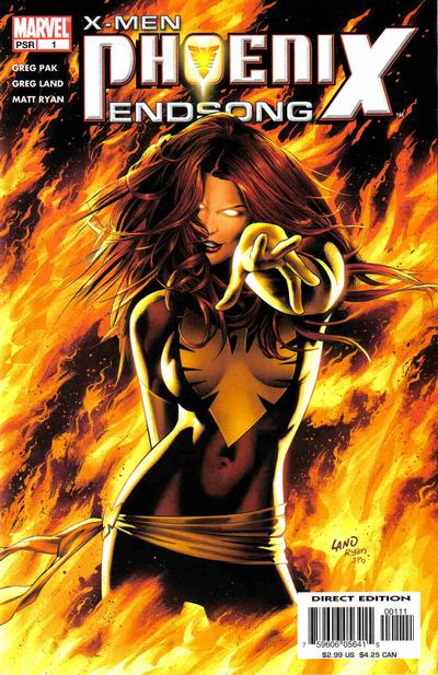 Cover for X-Men: Phoenix - Endsong (Marvel, 2005 series) #1 [Second Printing/Limited Edition]