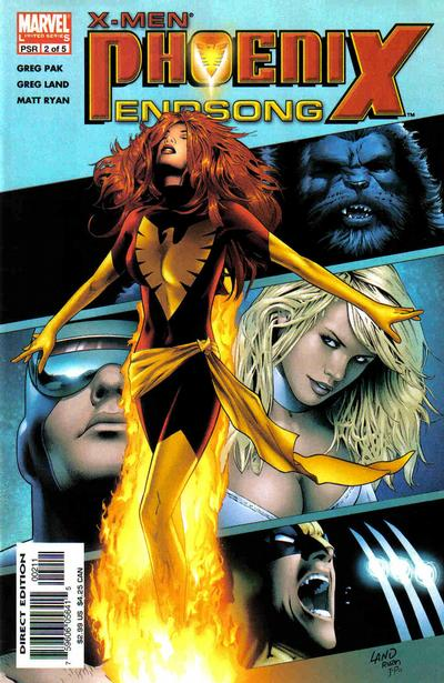 Cover for X-Men: Phoenix - Endsong (Marvel, 2005 series) #2 [Second Printing/Limited Edition]
