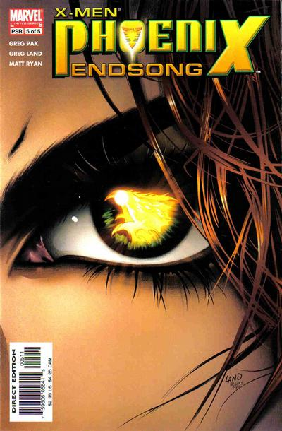 Cover for X-Men: Phoenix - Endsong (Marvel, 2005 series) #5 [Second Printing/Limited Edition]