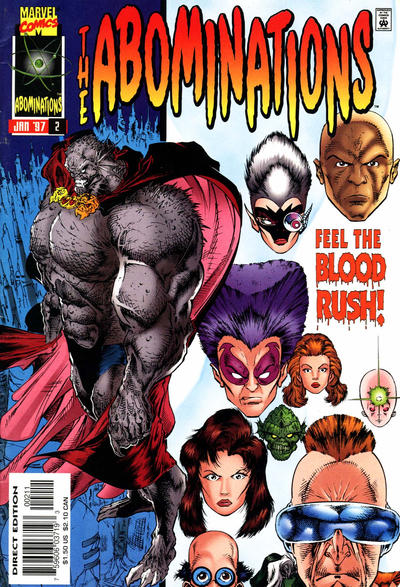 Cover for Abominations (Marvel, 1996 series) #2