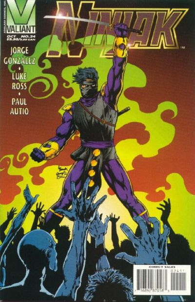 Cover for Ninjak (Acclaim / Valiant, 1994 series) #24