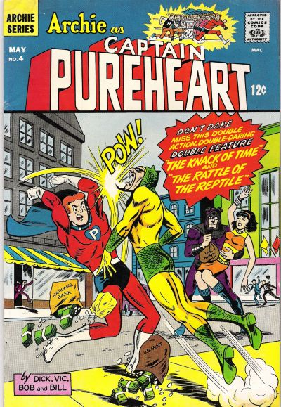 Cover for Archie as Capt. Pureheart (Archie, 1967 series) #4