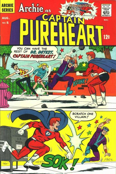 Cover for Archie as Capt. Pureheart (Archie, 1967 series) #5