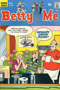 Cover Thumbnail for Betty and Me (Archie, 1965 series) #31