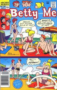 Cover Thumbnail for Betty and Me (Archie, 1965 series) #170 [Newsstand]