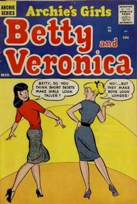 Cover Thumbnail for Archie's Girls Betty and Veronica (Archie, 1950 series) #41