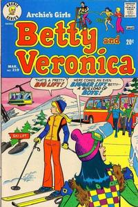 Cover Thumbnail for Archie's Girls Betty and Veronica (Archie, 1950 series) #219