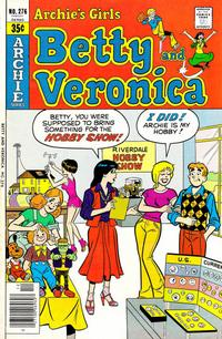 Cover for Archie's Girls Betty and Veronica (Archie, 1950 series) #276