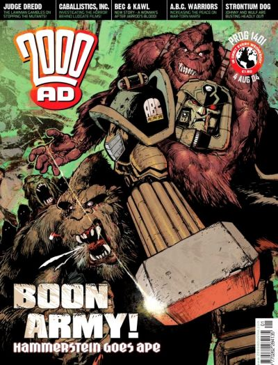 Cover for 2000 AD (Rebellion, 2001 series) #1401
