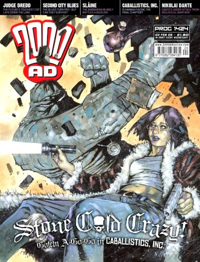 Cover for 2000 AD (Rebellion, 2001 series) #1424