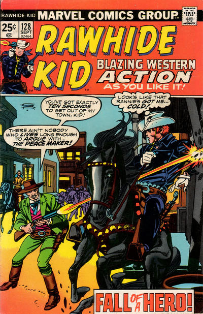 Cover for The Rawhide Kid (Marvel, 1960 series) #128