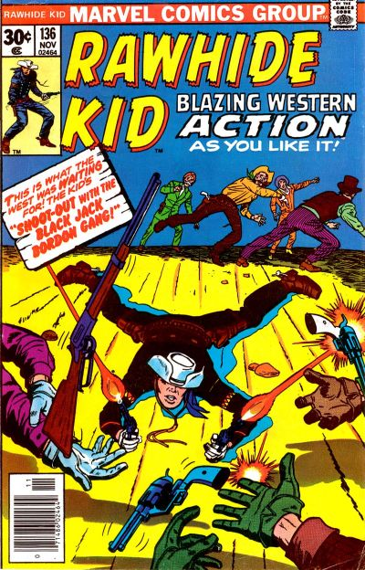 Cover for The Rawhide Kid (Marvel, 1960 series) #136
