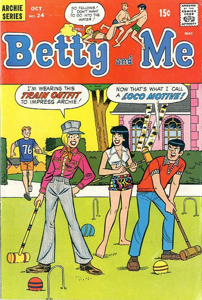 Cover for Betty and Me (Archie, 1965 series) #24