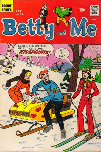 Cover for Betty and Me (Archie, 1965 series) #34