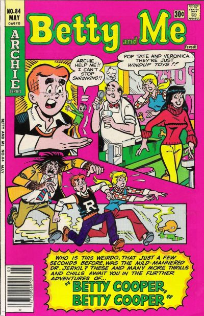 Cover for Betty and Me (Archie, 1965 series) #84