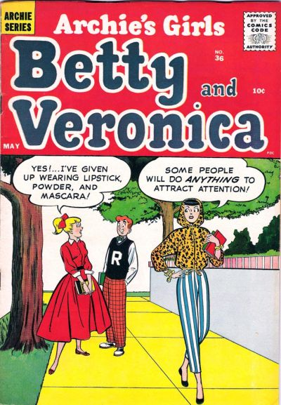 Cover for Archie's Girls Betty and Veronica (Archie, 1950 series) #36