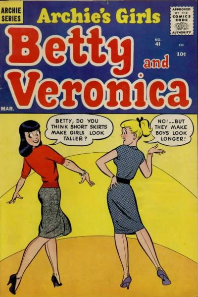 Cover for Archie's Girls Betty and Veronica (Archie, 1950 series) #41