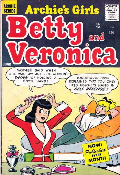 Cover for Archie's Girls Betty and Veronica (Archie, 1950 series) #43