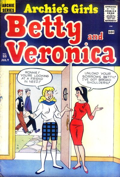 Cover for Archie's Girls Betty and Veronica (Archie, 1950 series) #55