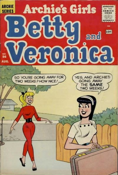 Cover for Archie's Girls Betty and Veronica (Archie, 1950 series) #56
