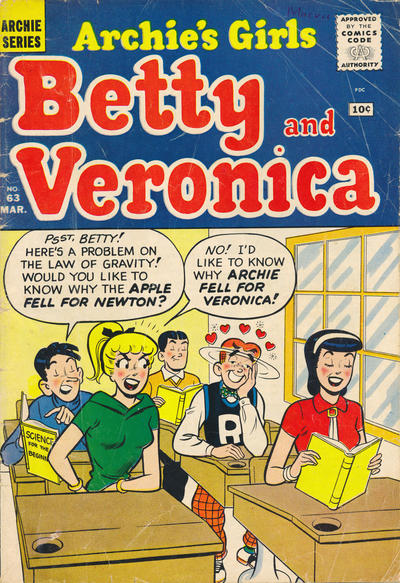 Cover for Archie's Girls Betty and Veronica (Archie, 1950 series) #63
