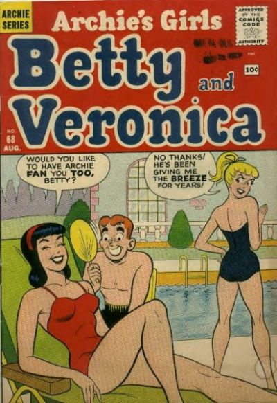 Cover for Archie's Girls Betty and Veronica (Archie, 1950 series) #68
