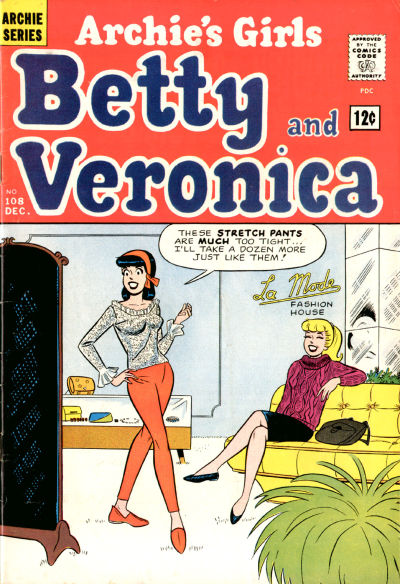 Cover for Archie's Girls Betty and Veronica (Archie, 1950 series) #108
