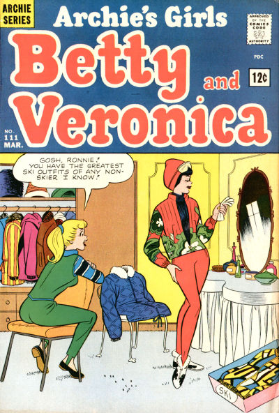 Cover for Archie's Girls Betty and Veronica (Archie, 1950 series) #111