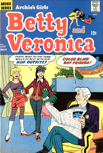 Cover for Archie's Girls Betty and Veronica (Archie, 1950 series) #137