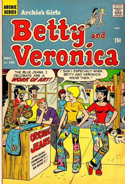 Cover for Archie's Girls Betty and Veronica (Archie, 1950 series) #191