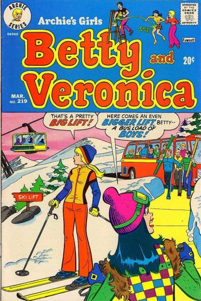 Cover for Archie's Girls Betty and Veronica (Archie, 1950 series) #219