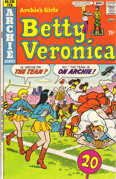 Cover for Archie's Girls Betty and Veronica (Archie, 1950 series) #230