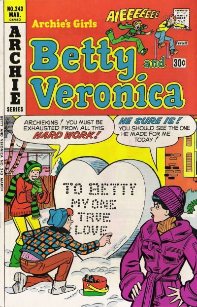 Cover for Archie's Girls Betty and Veronica (Archie, 1950 series) #243