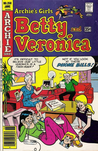 Cover for Archie's Girls Betty and Veronica (Archie, 1950 series) #258