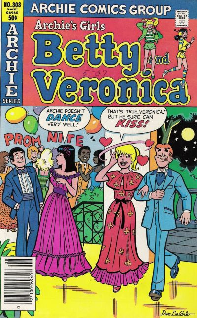 Cover for Archie's Girls Betty and Veronica (Archie, 1950 series) #308