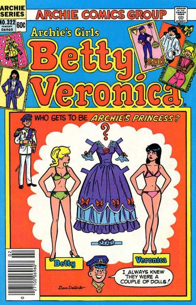 Cover for Archie's Girls Betty and Veronica (Archie, 1950 series) #322