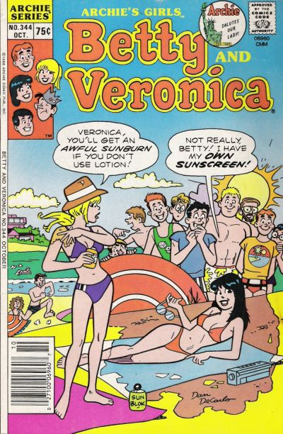 Cover for Archie's Girls Betty and Veronica (Archie, 1950 series) #344