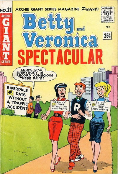 Cover for Archie Giant Series Magazine (Archie, 1954 series) #21 [Canadian Price Variant]