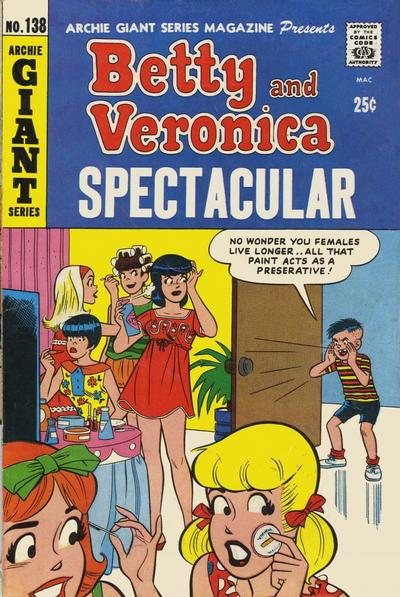 Cover for Archie Giant Series Magazine (Archie, 1954 series) #138
