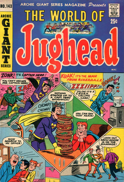 Cover for Archie Giant Series Magazine (Archie, 1954 series) #143