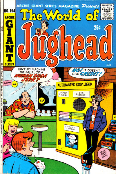 Cover for Archie Giant Series Magazine (Archie, 1954 series) #194